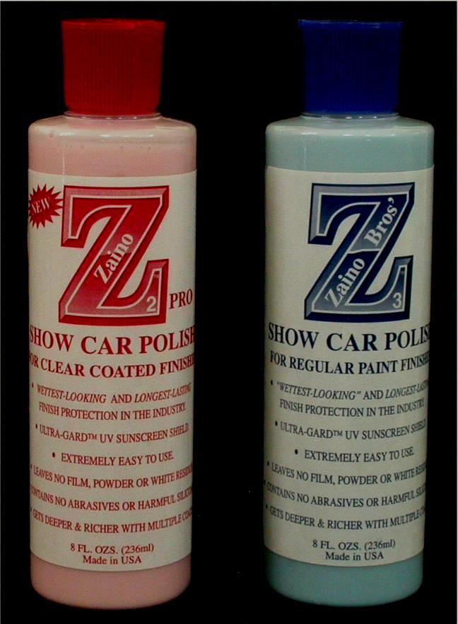 Zaino Show Car Polish Products - Show car products